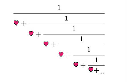 A continued fraction...of love.