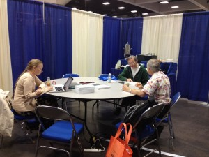 Getting my blog on in the Joint Math Meetings press room. Image: American Mathematical Society.