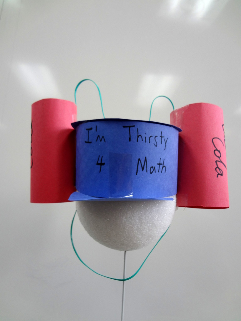 """A """"hat"""" made by Patrick Honner's students as part of his award-winning math lesson plan. Image: Patrick Honner."""