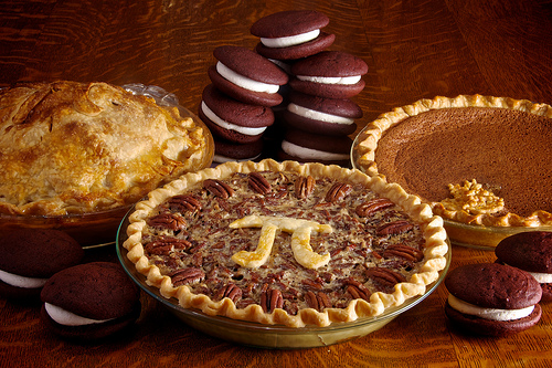 A variety of pies celebrating the number pi. Source: flickr/djwtwo.